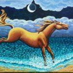 Original Acrylic Painting of Sea Horses v.1