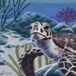 Original Acrylic Painting of Sea Turtle