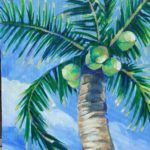 Class Painting of Coco Palm