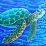 Class Painting of Sea Turt;e