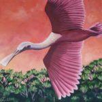 Original Acrylic Painting of Spoonbill